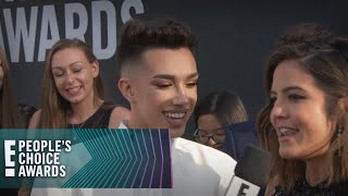 James Charles Gives 2 Lucky PCAs Fans a Makeover! | E! People's Choice Awards