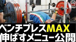 【ベンチプレス】強くなりたい人は必ず見て欲しい!210kgのベンチプレスを挙げたメニューを大公開/パワーリフティング【ハリー実況】
