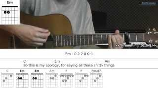 How to play Someone with Kelly Clarkson (Guitar lesson)