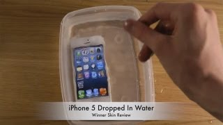 iPhone 5 Dropped In Water - Winner Skin Review