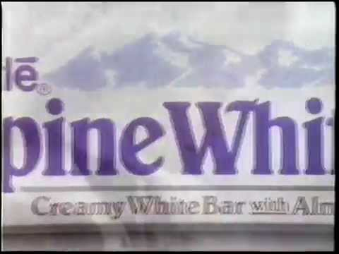 1990 Nestle Alpine White Candy Bar Commercial