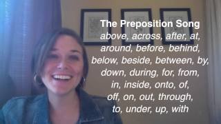 What Is a Preposition? Listen to the Preposition Song!