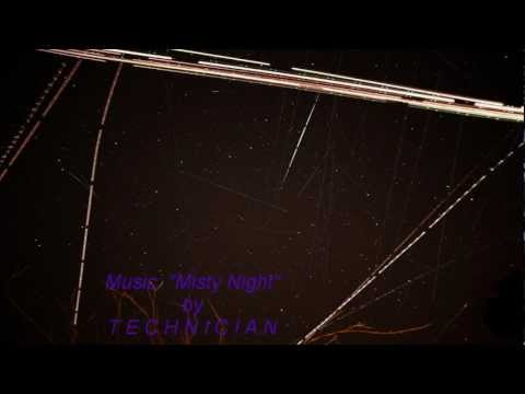Busy Night Sky: Timelapse Stars, Satellites, Meteors, and Aircraft Trails V11842