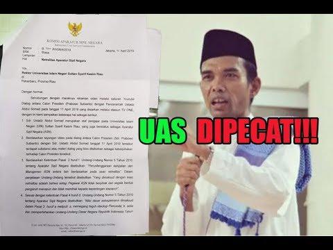Heboh!!! Surat Ustadz Abdul Somad Dipecat!