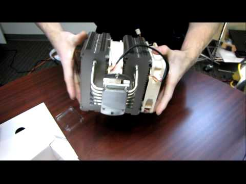 Noctua NH-D14 140mm Tower Heatpipe Cooler Unboxing & First Look Linus Tech Tips
