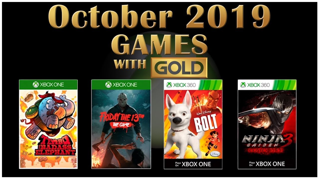 Xbox Gold Games October 2020.Xbox Live Games With Gold October 2019
