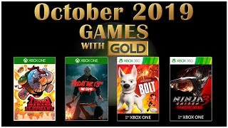 Xbox Live Games With Gold October 2019