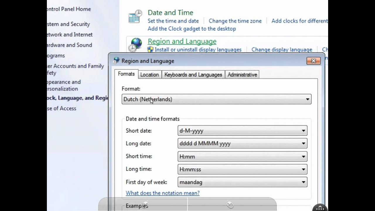 windows 7 how to change language to english