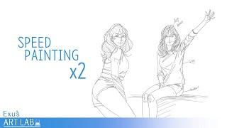 """갤럭시노트5 폰그림. ''스피드페인팅 x2"""" / Mob…"""