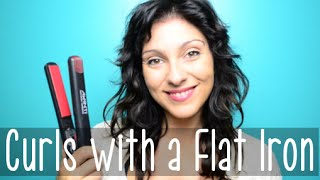 How to Curl Your Hair with a Flat Iron - 4 Different Curls | Instant Beauty ♡