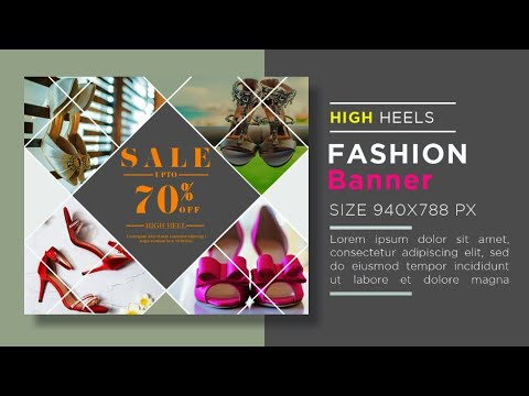 Fashion Product Banner Design In Photoshop Cc | Fashion Banner Design | High Heel Product Banner