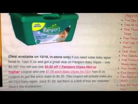 $0.50 Pampers Wipes @ Toys R Us