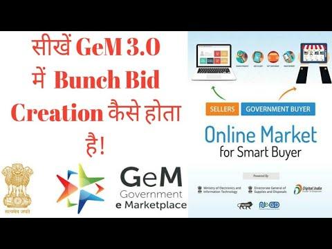 Bunch Bid Creation Process for Services (Buyer) GeM 3 0