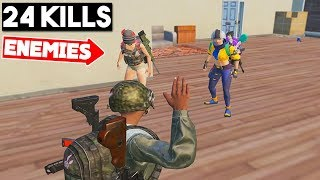 I TEAMED UP WITH FEMALE ENEMY FANS! | 24 KILLS SOLO vs SQUAD | PUBG Mobile 🐼