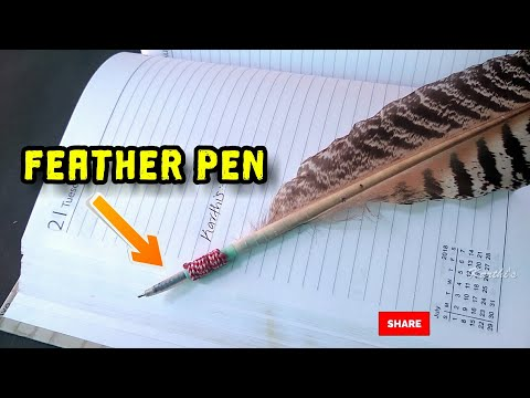 How to make a pen with feather