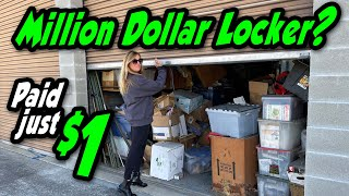 Million Dollar Locker? This is our best one ever, bought it for just $1 at the storage auction screenshot 4