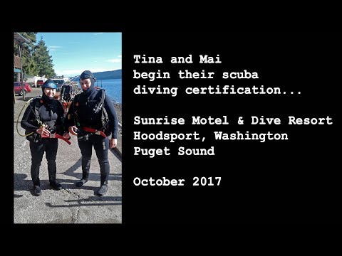 Tina and Mai begin their scuba diving certification...