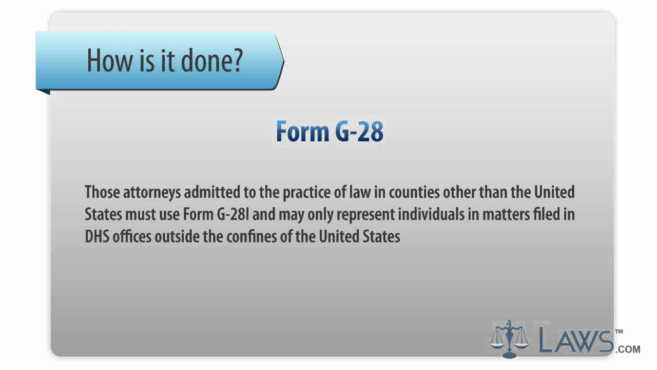 Learn how to fill the form g 28 notice of entry of appearance an learn how to fill the form g 28 notice of entry of appearance an attorney or representative falaconquin