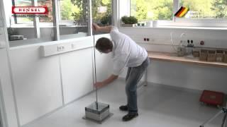 Prüfung mit dem Freifallhammer / Test with vertical hammer