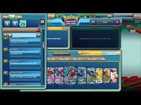 Pokemon Trading Card Game Online: Chatroom and Binder Interface