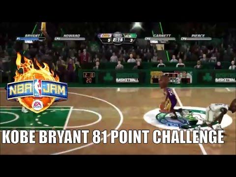 NBA JAM (KOBE 81 POINT CHALLENGE) {DOUBLE ANKLE BREAKER?!}