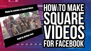 How To Make Square Videos For Facebook In Mac - iOS Using Screenflow