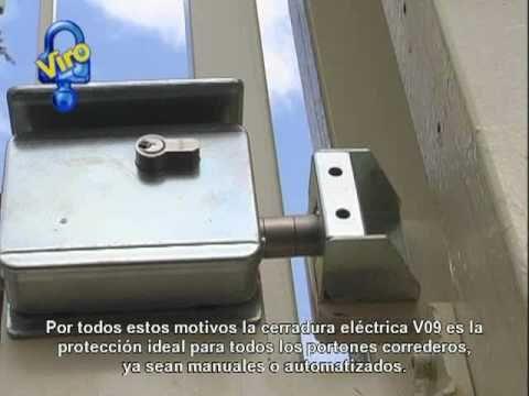 Cerradura el ctrica v09 para portones correderos art - Serrure pour portillon de jardin ...