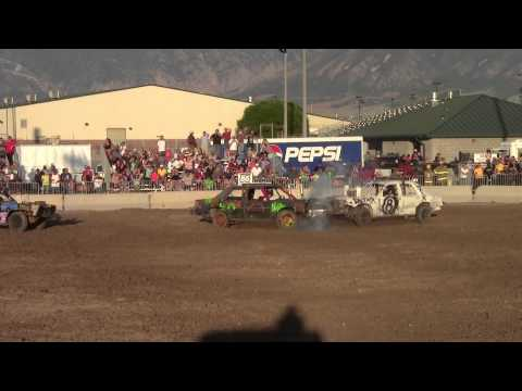 Tooele County Fair Demolition Derby 08/03/2013 80's Heat