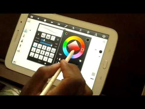Galaxy Note 10 1 App `LayerPaint` drawing (desenhando) by Gata