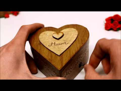Beautiful dreamer Music box ( Mum engraved and hand made by gift of a kind )