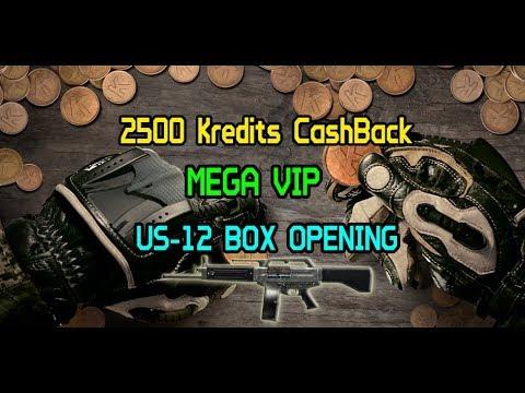 WARFACE - 2500 KREDITS CASHBACK = 1 MEGA VIP + 1 US-12 :)