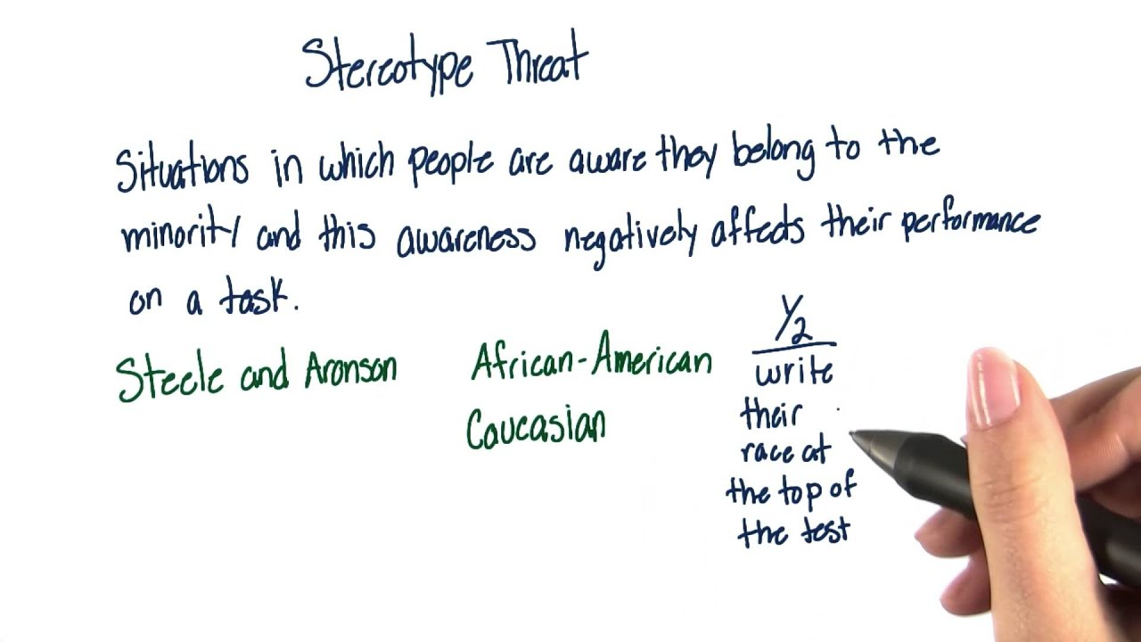 stereotype threat What is stereotype threat stereotype threat is a phenomenon that occurs when there is the opportunity or perceived opportunity for an individual to satisfy or confirm a negative stereotype of a group of which she is a member the threat of possibly satisfying or confirming the stereotype can interfere with the subject's performance in.