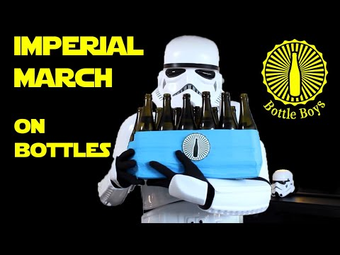 Four Storm Troopers Playing Imperial March on Bottles - Star Wars (Bottle Boys)