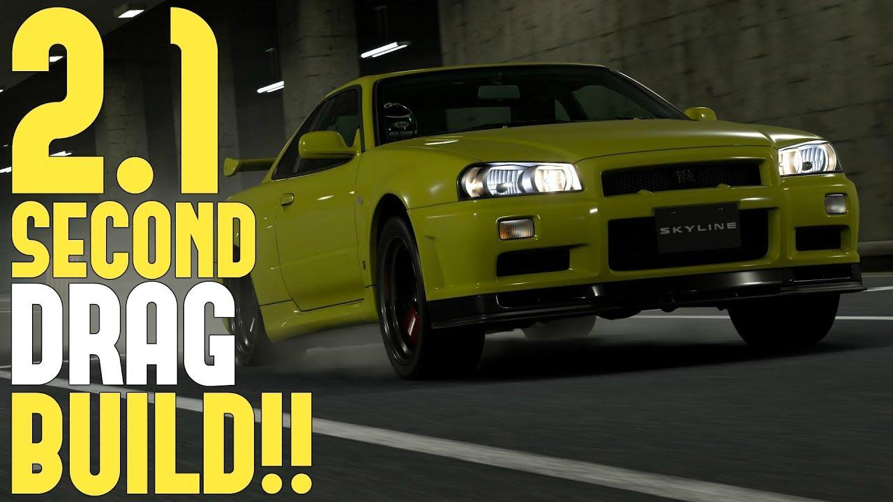 GT SPORT - (2 1 Second) R34 GT-R Drag Tune Setup