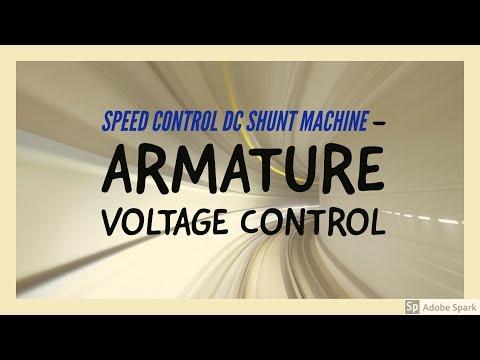 Speed Control of Dc shunt motors  - Armature voltage control