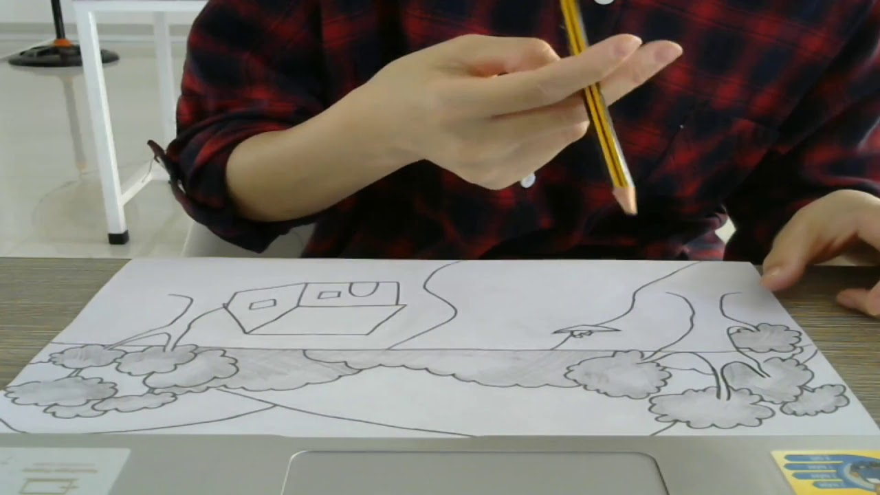 Hướng dẫn vẽ bức tranh cực đẹp bằng bút chì