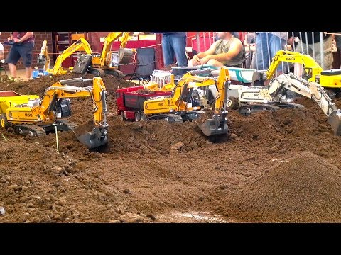 Biggest Rc Construction-Site in the World! Rc Truck Action at Minibaustelle Alsfeld 2017!