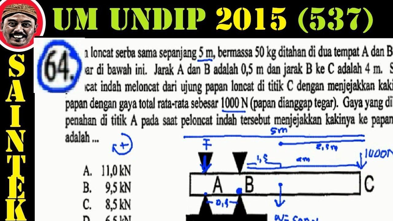 UM UNDIP 2015 Kode537, Fisika, Pembahasan No 64,dinamika