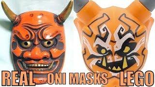 All LEGO Ninjago Oni Masks IN REAL LIFE!
