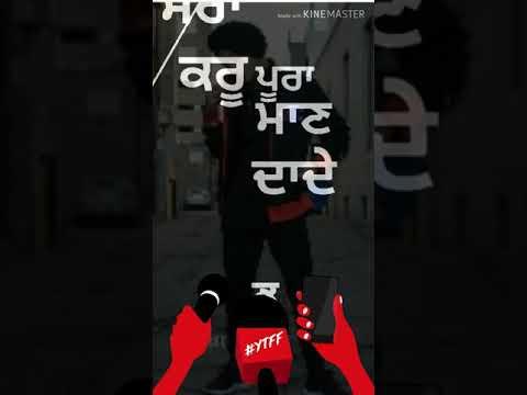 Little boy wango naam chalda      By singga      Punjabi status    punjabi  lyrics    Attitude status