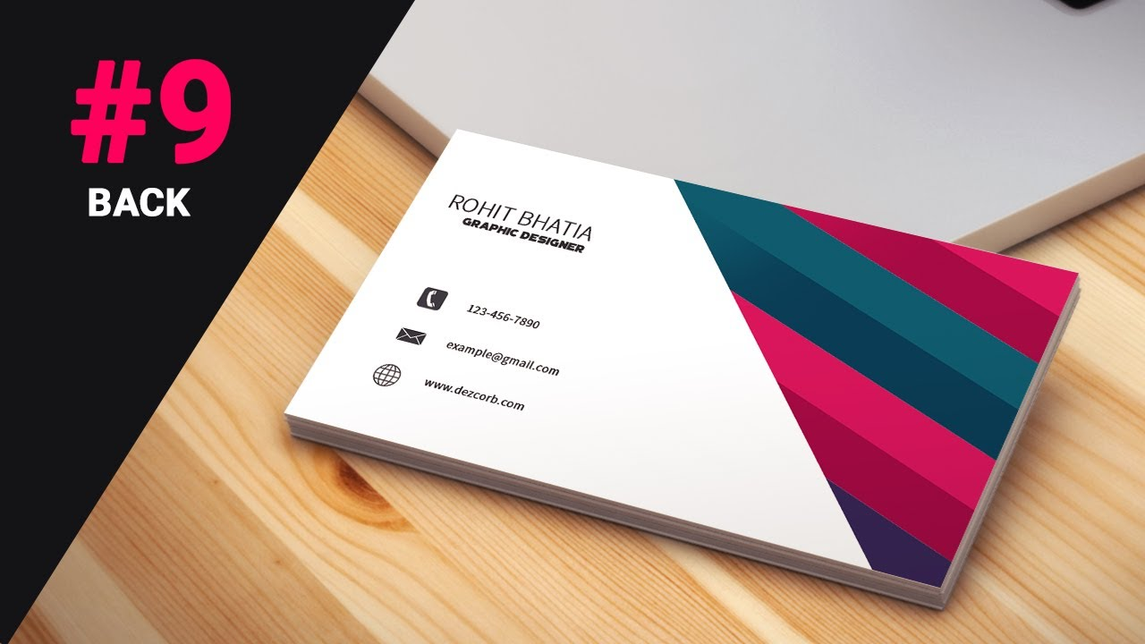 9 how to design business cards in photoshop cs6 | Pink | Back ...