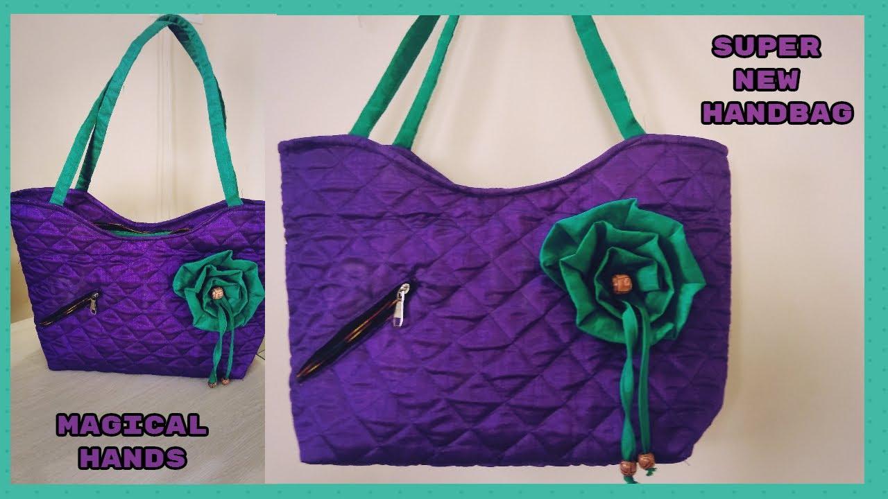 Super Handbag Make At Home Diy Handbag Cutting And Stitching In
