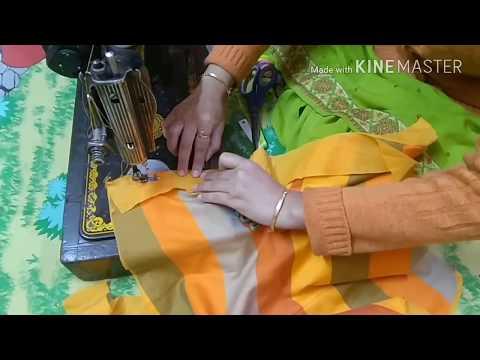 Beautiful Anchor Thread Loop Button Sleeves Design Cutting & Stitching in Hindi/ DIY/ Sara