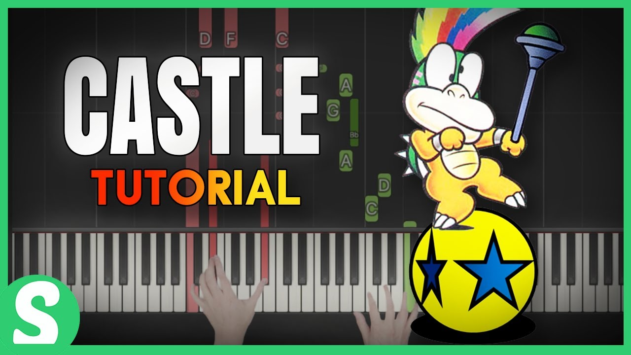 How To Play Castle Background Music From Super Mario World Smart Game Piano Video Game Music
