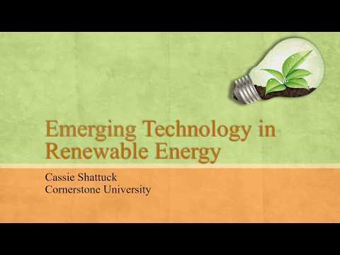 Emerging Technology: Renewable Energy