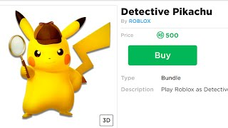 How to be Detective Pikachu in Roblox!!