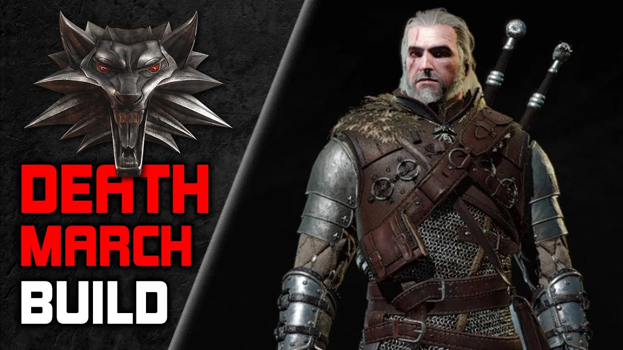 WITCHER 3 Powerful 💀 Death March BUILD for NG+ ⚔️ (Skills, Gear, Potions,  Mutations)