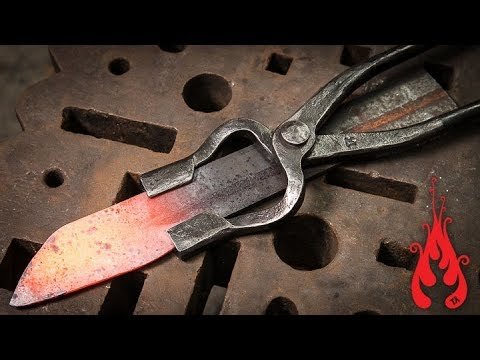 Blacksmithing - Forging knife tongs