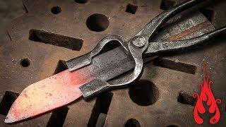 Blacksmithing - Forging knife tongs