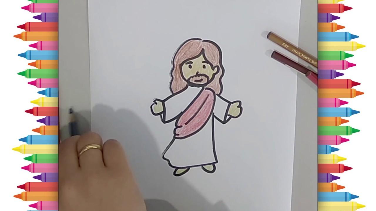 Menggambar Dan Mewarnai Yesus Drawing Jesus Christ Drawing Step By Step Youtube